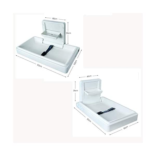LXZ Multi-function Changing Table, Crib, Nursing Table, Foldable Baby Bed, Wall-mounted, Maternity Room Bathroom Available LXZ Safety Design - The baby changing table is equipped with a safety belt to prevent the baby from walking around and meet safety standards. Load-bearing design - baby care table, large platen bearing strong, ensuring baby safety, can be used in the bathroom, maternal and child room, etc. Comfortable height - The baby changing table has a comfortable height that reduces bending when you bathe your child or change diapers. 2