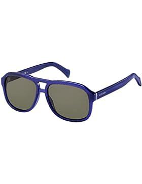 Tommy Hilfiger Unisex-Erwachsene Sonnenbrille TH 1468/S 70, Schwarz (Trblue Bluet), 58