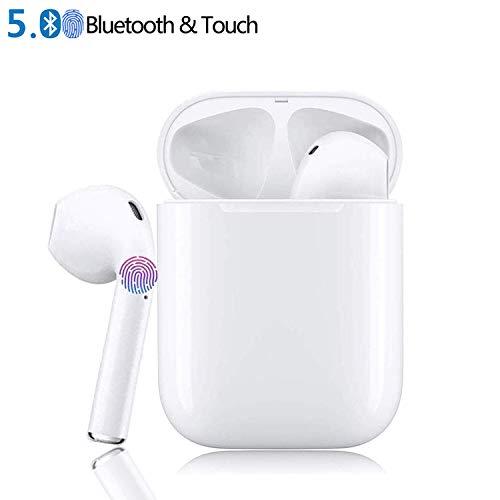 Peacelove EU Oreillette Bluetooth Casque, Ecouteurs sans Fil dans l'oreille Casques Sport pour iOS X/MAX/XR/X/8/7/6/6s Plus et Samsung Galaxy S8 S9 et Huawei Android