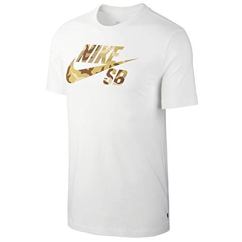 Nike Herren M Nk Sb Tee Logo Snsl 2 Hemd, weiß, 2XL (Stefan Janoski-shirt)
