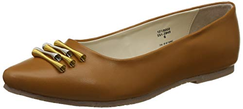 BATA Women's Shelby Tan Ballet Flats-6 UK/India (39 EU)(5513949)