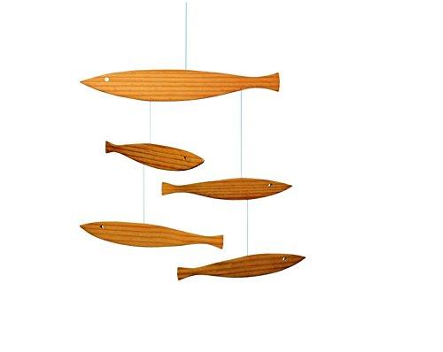 Flensted Mobiles - Treibende Fische - Mobile/Windspiel - Holz - 40 x 40 cm Fisch Mobile