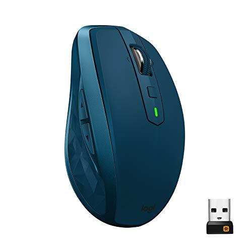 Logitech MX Anywhere 2S - Ratón inalámbrico con Bluetooth para Mac y Windows, verde azulado width=