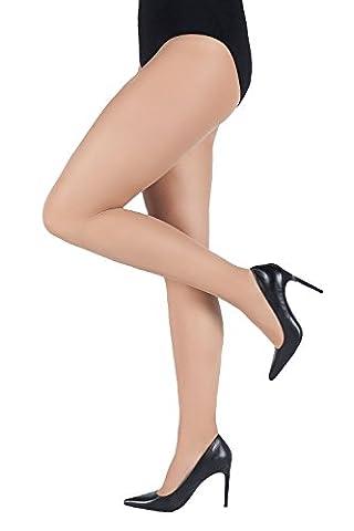Ulla Popken Femme Grandes tailles collant galbant microfibre noir chair