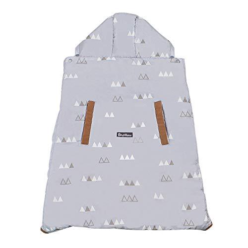Wintercover und Regenschutz, Babytragen mit Fleece-Innenfutter wasserdichte Hülle, Grau