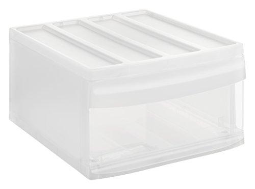 Rotho Systemix Schubladenbox 1 Schublade, Kunststoff (PP), transparent, Gr. L (39,5 x 34 x 20,3 cm) -