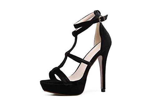 Pumps Europa Größe Sandalen Plattform Heels Stiletto Ferse Open Toe Knöchelriemen Sommer Damen Kleid Schuhe 35-40 apricot
