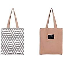635c4e60e0 Drawihi Rosa Borsa della Spesa Borsa Shopping in Tela di Cotone Tote Bags  Studentesca Elegante Portatile