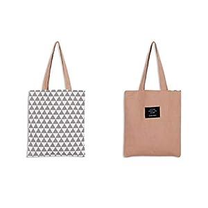Drawihi - Borsa shopper 100% in tela di cotone, adatta per studenti e insegnanti, colore casuale