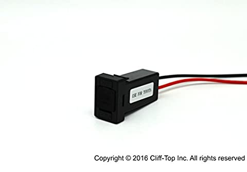Cliff-Top Toyota USB Chargers for Switch Plant - with Built-in Fuse 26cm Wiring 5V 4.2Amp Dual USB Power