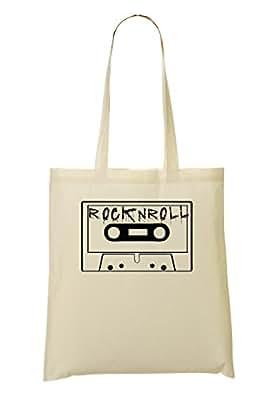 Cassette Rock'N'Roll Artwork Sacchetto Di Tote