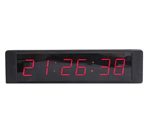 MYLEDI 1 Pulgadas Reloj Digital Pared Reloj Grande De La Pared del ...