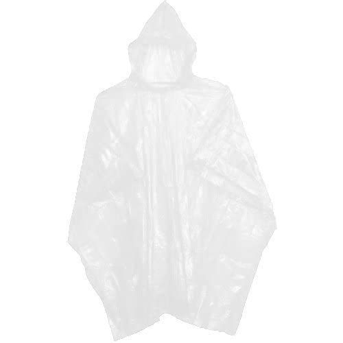 31v1f5xWLVL. SS500  - 10 WHITE WATERPROOF DISPOSABLE PONCHOS MACS FOR OUTDOOR EVENTS
