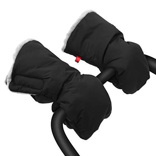 Saco de mano extra grueso para cochecito de bebé, guantes impermeables y anticongelante, para padres...