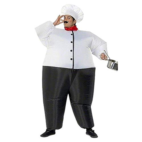 Fat Kostüm Mann Halloween - LOVEPET Big Fat Chef Aufgeblasen Kostüm Weihnachten Halloween Erwachsene Cosplay Karneval Party Event Requisiten Kostüm Masquerade Requisiten