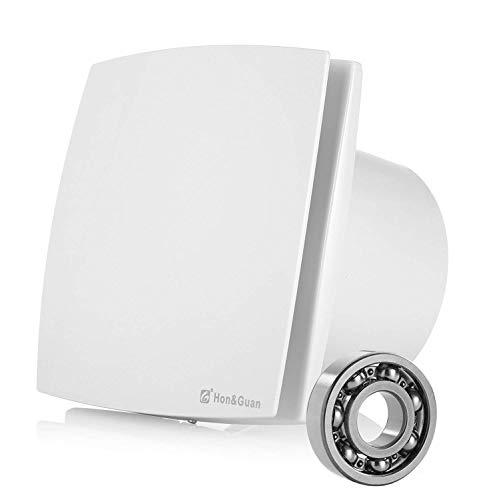 Hon&Guan Ø150mm Badlüfter Silent mit 201m³/h Effiziente Lüftung ,Abluftventilator für Badezimmer / Schlafzimmer / Büro (A-150mm) - Mixed-flow Duct Fan