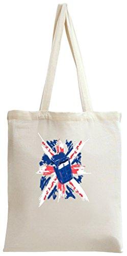 Police Box On Union Jack Tote Bag -