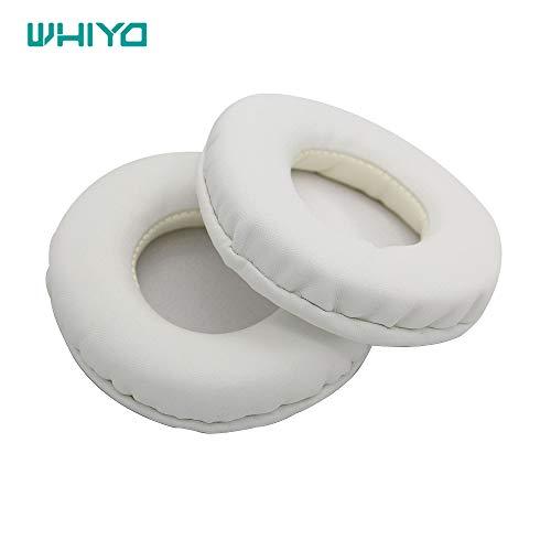 Whiyo 1 Paar runde Protein-Leder-Ohrpolster für SMS-Audio Street von 50 Over-Ear-Kopfhörer