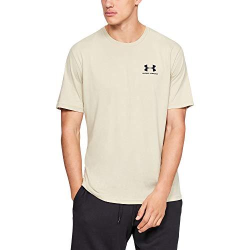 Under Armour Herren UA Sportstyle Kurzarm,T-Shirt ,Khaki Base/Black 289,L - Sleeve Loose Fit Shirt