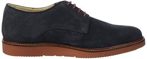 Base London Garrick, Chaussures Lacées Homme Bleu (Navy)