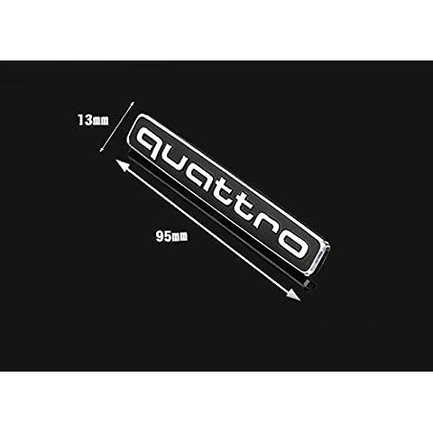 Quattro Kit emblema Logo distintivo Mark auto paraurti anteriore Grill