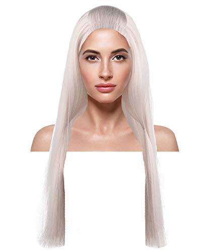 Sexy Kostüm Queen Ice - THEHAIRDROBE The Huntsman Ice Queen Prinzessin sexy Silber halloween blonde Perücke des Kostüms HW-179