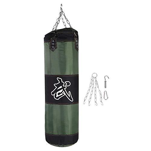 Punch Sandbag, Durable Boxing Heavy Bag Canvas Punch Bag Funzionale per Allenamento Fitness e Sport(100cm-Verde)