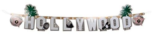 NEU Girlande Hollywood Buchstaben, 135 (Party Kostüm Hollywood)