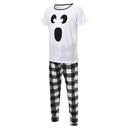 Pyjama Hausanzug Langärmeliger T-Shirt-Top mit Cartoon-Print für Halloween-Eltern-Kind-Jungen +...