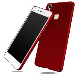 SDO™ Luxury Matte Finish Rubberised Slim Hard Case Back Cover for Vivo V3 (Red)