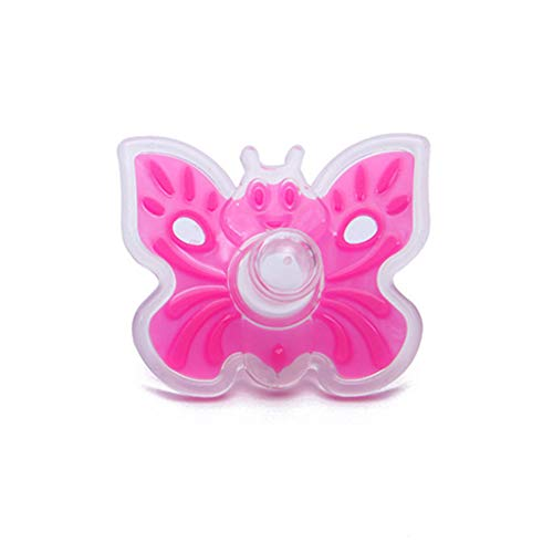 PT-KMKMING Baby Beißring Molaren Werkzeuge Infant Schnuller Silikon Schmetterling Form Beißringe Spielzeug für Kinder Kinder Mädchen Jungen (In Bulk Baby-schnuller)