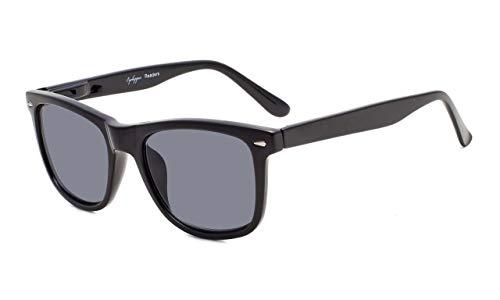 Eyekepper Damen und Herren lesebrillen mit Große Quadratische Gläsern und Federscharniere in Sonnenschützt Gläsern +1.00