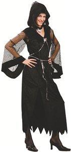 P 'tit Clown-89995-Kostüm Erwachsene Luxe Witwe (Schwarze Witwe Kostüm Amazon)
