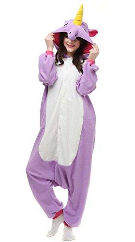 Pyjamas Licorne Adulte Unisexe Anime Kigurumi Onesies Deguisement Animaux Siamois Romper Pajamas Vêtements Violet