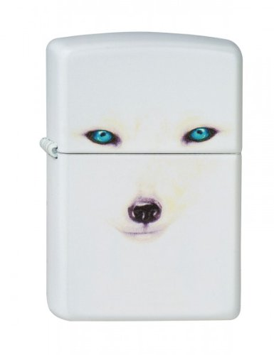 Price comparison product image Zippo lighter, Arctic Fox, White Matte, NEW, MIB
