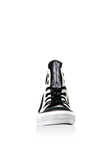 Converse, All Star Hi Leather Suede Sneaker,Unisex Adulto Argentato