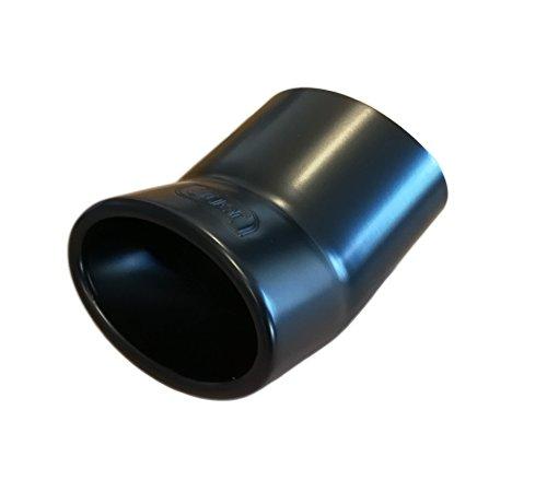Preisvergleich Produktbild Auspuffblende CARTUNER® 95x65mm Edelstahl schwarz matt • Exclusiv-Line