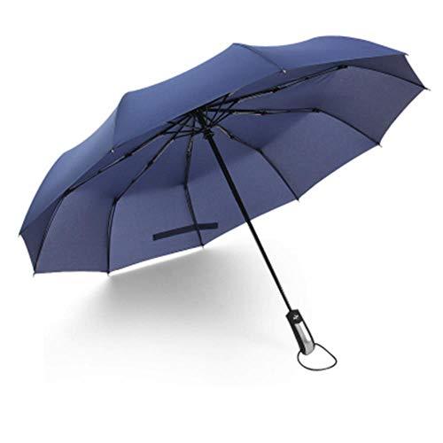 LIKEZZ Winddicht Falten Automatikschirm männer Luxus Großen Winddicht Regenschirm Regen Frauen Männlichen Regenschirm, Blau