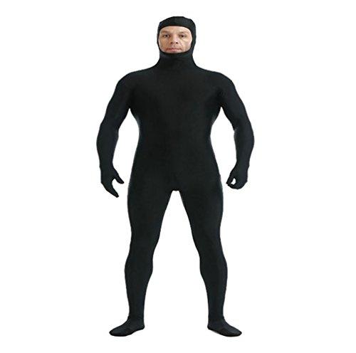 (CHENGYANG Ganzkörperanzug Catsuit Face Offene Overall Zentai Ganzanzug Bodysuit für Cosplay Party Schwarz XL)