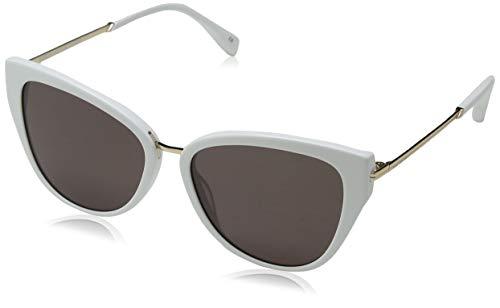 KAREN MILLEN Damen Atelier Sonnenbrille, Weiß (White), 57.0