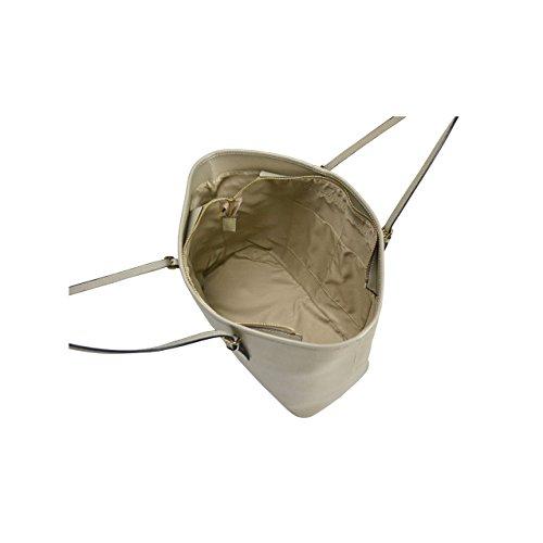 itBags - Borsa a spalla Giusy in Vera Pelle Made in Italy Grigio