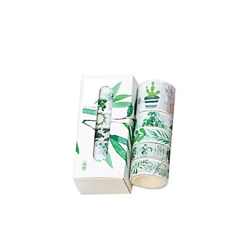 quanjucheer 5 Rollen Floral Washi Tape Set Masking Frühlingsblumen Dekorative Papierbänder für Kunst und DIY Handwerk 2