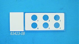 Hydrophobic Printed Slide 6 Well, Round, 8 mm,