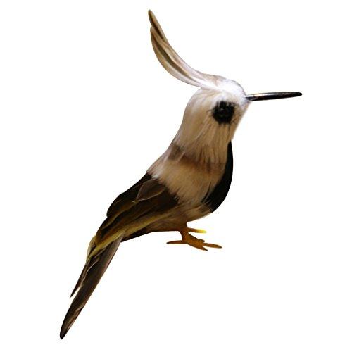 Sharplace Künstliche Vögel Gefiederter Vogel Tiervogel Garten Figur Dekofigur Dekoration Vogel Scarer Garten Ornament - Kolibri