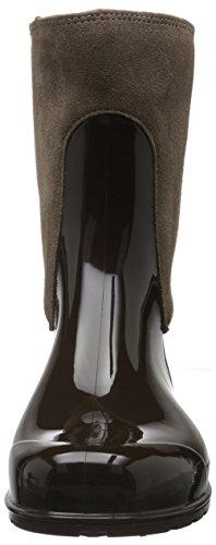 Marc O'Polo - Gummistiefel, Stivali a metà polpaccio con imbottitura leggera Donna Marrone (Braun (Dark Brown 790))