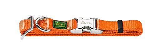 Hunter - Collare per cane, misura media, colore arancione