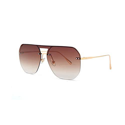 YCHSG Sonnenbrille Einteilige Polarisator Unisex Multi-Color optional Sonnenbrille,Brown