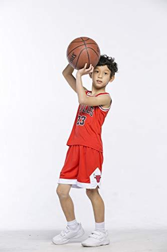 BeKing Basketball-Trikots Set für Kinder - NBA Bulls Jordan#23 / Lakers James#23 / Warriors Curry#30 Basketball-Shirt Weste Top Sommershorts für Jungen und Mädchen - Mädchen Lacrosse Shorts