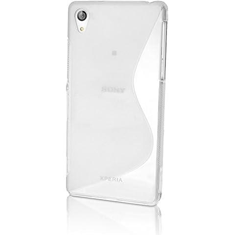 igadgitz S Line Claro Lustroso Funda Carcasa Gel TPU para Sony Xperia Z3 D6603 Case Cover + Protector