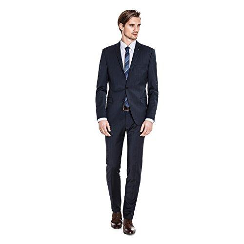 Benvenuto Purple - Super Slim Fit - Herren Baukasten Anzug in Schwarz oder Dunkelblau, (20848, Modell: 61566, 61522), Größe:50, Farbe:Schwarz (4000)